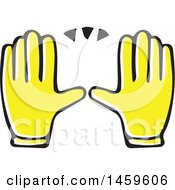 Clipart Of Yellow Pop Art Styled Hands Framing Royalty Free Vector Illustration