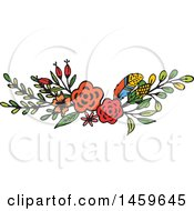 Clipart Of A Spring Or Summer Flower Design Element Royalty Free Vector Illustration by Cherie Reve