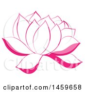 Clipart Of A Pink Blooming Wildflower Royalty Free Vector Illustration