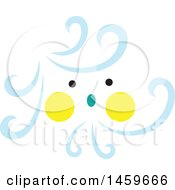 Clipart Of A Windy Weather Emoji Royalty Free Vector Illustration by Cherie Reve