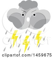 Clipart Of A Lightning Storm Cloud Weather Icon Royalty Free Vector Illustration by Cherie Reve