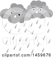 Clipart Of A Rain Clouds Weather Icon Royalty Free Vector Illustration by Cherie Reve