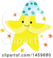 Clipart Of A Happy Star Weather Icon Royalty Free Vector Illustration by Cherie Reve