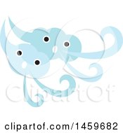 Clipart Of A Happy Windy Weather Icon Royalty Free Vector Illustration