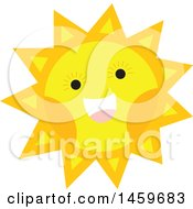 Clipart Of A Happy Sun Weather Icon Royalty Free Vector Illustration by Cherie Reve