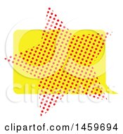 Clipart Of A Comic Pop Art Styled Speech Balloon And Halftone Star Royalty Free Vector Illustration