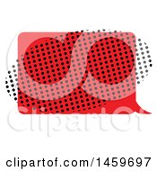 Clipart Of A Comic Pop Art Styled Speech Balloon And Halftone Oval Royalty Free Vector Illustration