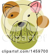 Clipart Of A Sketched Dog Face Royalty Free Vector Illustration by Cherie Reve