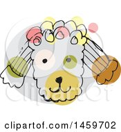 Clipart Of A Sketched Poodle Dog Face Royalty Free Vector Illustration by Cherie Reve
