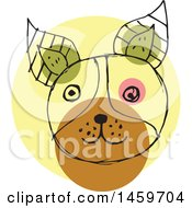 Clipart Of A Sketched Dog Face Royalty Free Vector Illustration