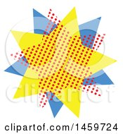 Clipart Of A Comic Pop Art Styled Star Royalty Free Vector Illustration