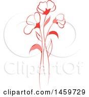 Red Wild Flower Design