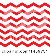 Clipart Of A Red Chevron Wave Pattern Background Royalty Free Vector Illustration