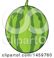 Clipart Of A Watermelon Royalty Free Vector Illustration
