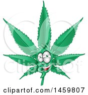 Clipart Of A Cannabis Pot Leaf Mascot Royalty Free Vector Illustration by Domenico Condello
