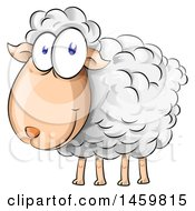 Clipart Of A Cartoon Sheep Royalty Free Vector Illustration by Domenico Condello