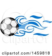 Clipart Of A Soccer Ball With Honduran Flag Flames Royalty Free Vector Illustration