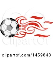 Clipart Of A Soccer Ball With Swiss Flag Flames Royalty Free Vector Illustration