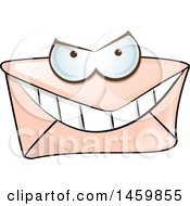 Clipart Of A Cartoon Envelope Character Royalty Free Vector Illustration by Domenico Condello