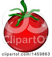 Clipart Of A Cartoon Tomato Royalty Free Vector Illustration by Domenico Condello