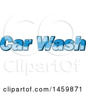 Clipart Of A Car Wash Text Design Royalty Free Vector Illustration by Domenico Condello