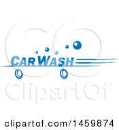 Clipart Of A Car Wash Text Design Royalty Free Vector Illustration