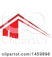 Clipart Of A Red House And Roof Top Royalty Free Vector Illustration