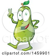 Clipart Of A Cartoon Pear Character Royalty Free Vector Illustration