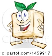 Clipart Of A Cartoon Tofu Character Royalty Free Vector Illustration by Domenico Condello