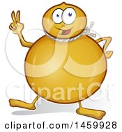 Clipart Of A Cartoon Provolone Cheese Character Royalty Free Vector Illustration by Domenico Condello
