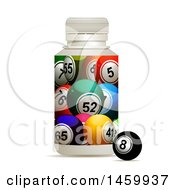 3d Bottle With Bingo Balls