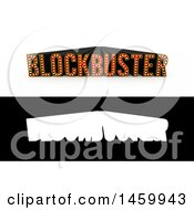 Clipart Of A 3d Blockbuster Movie Typography With Alpha Map Royalty Free Vector Illustration