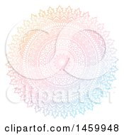 Gradient Colorful Mandala Design On White