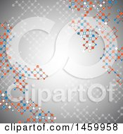 Clipart Of A Technology Connections Lattice Background Royalty Free Vector Illustration