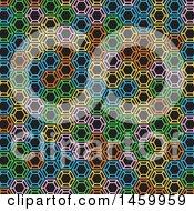Colorful Geometric Pattern On Black