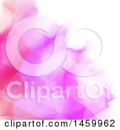 Poster, Art Print Of Pink Geometric Watercolor Background