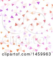 Clipart Of A Background Of Watercolor Painted Triangles On White Royalty Free Vector Illustration