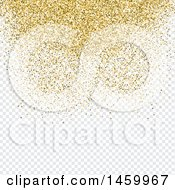 Background Of Gold Confetti Over Checkers