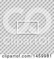 Clipart Of A Blank Frame On A Grayscale Diagonal Checker Pattern Royalty Free Vector Illustration