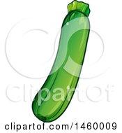 Clipart Of A Green Zucchini Royalty Free Vector Illustration by Domenico Condello