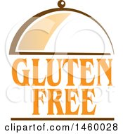 Clipart Of A Gluten Free Text Design And Cloche Royalty Free Vector Illustration