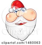 Clipart Of A Christmas Santa Claus Face Royalty Free Vector Illustration