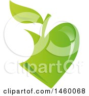 Clipart Of A Green Apple Design Royalty Free Vector Illustration