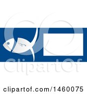 Blue And White Fish Banner With Text Space