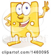 Clipart Of A Cartoon Cheese Mascot Royalty Free Vector Illustration by Domenico Condello