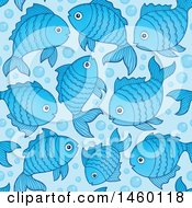 Seamless Background Of Blue Fish