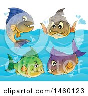 Clipart Of Piranha Fish Royalty Free Vector Illustration by visekart