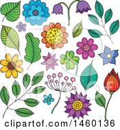 Poster, Art Print Of Sketched Flowers