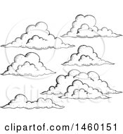 Black And White Sketched Clouds