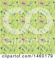 Poster, Art Print Of Background Of Art Nouveau Flowers